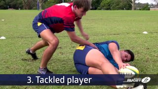 Tackle law - the tackled player