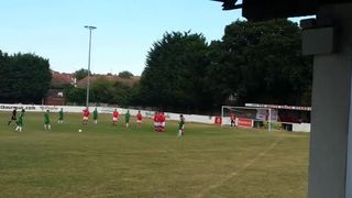 Dave Pilcher free kick at Whitstable Town