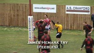 HAWICK YM v PEEBLES - 16.2.13 - CHAMPIONSHIP B - TV HIGHLIGHTS
