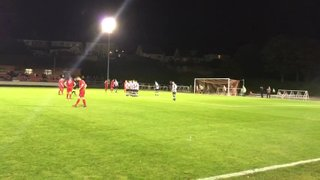 Reevo magnificent save from Trundle free kick