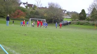 Training ground corner routine goal!