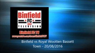 Royal Wootten Bassett Town vs Binfield - 20/08/16