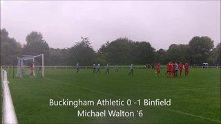 Buckingham Athletic vs Binfield 10/09/2016