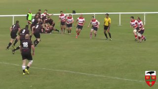 Hartley's try against Dorking RFC