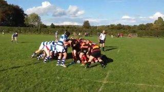 The winning try v Dungannon 4's