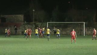 Action against Colne that led to the corner from which lewis Jordan scored