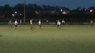 Hollindrakes header shaves the foot of the post v Congleton Town