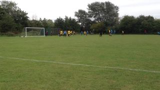 U14 vs Haslingfield - Matty over the bar.