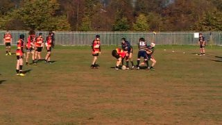 Under 15's match winning try against Westhoughton
