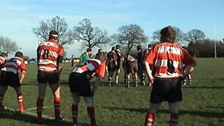 Sils -v- Nuneaton OE. Kevin Lane's try