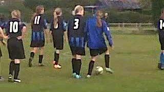Girls warm up ahead of Saturdays Game