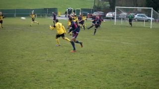 Fabian Smith fires wide in the 1-0 win v Radcliffe