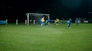 Aaron Large tests the Bardon keeper with a header