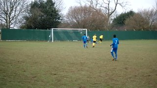 Theo rounds the keeper for 1-0 v Holbrook