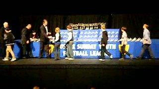 Hawks Youth White U12's title presentation