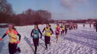 Senior Womens County Cross Country Droitwich Jan 2010