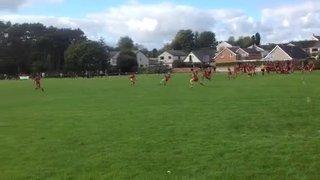 Lance Owen try for Caernarfon v Pwllheli
