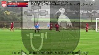 FC St Helens Vs Billinge FC (11.08.16)