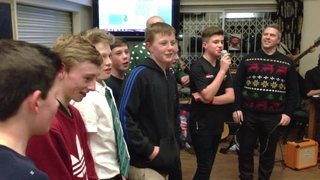 BRUFC Carol Singing 2013 - Happy Birthday Kerry!