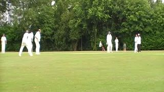 Nesan gets a wicket.
