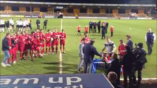 Ely City FC presented with CIC Trophy. May 22nd 2013.