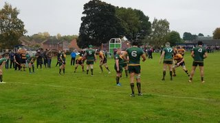 Sam Evans try at Newent