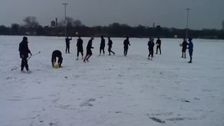 Boro training in the snow