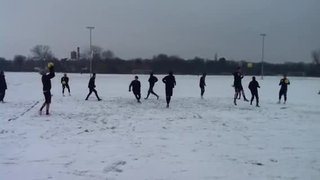 Boro training in the snow 2