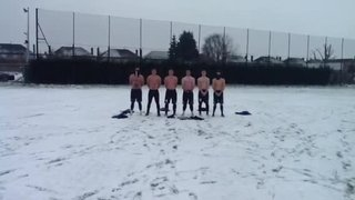 Boro training in the snow 9