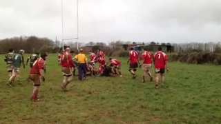 Friend try v Salcombe2 jan13