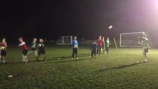 Adult football training - organised chaos