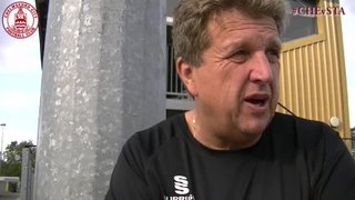 Steve Smith & Mark Hughes Interview - Clarets 1 vs 3 Staines Town