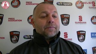 Mark Hawkes & Mark Haines Interview - Clarets 4 vs 2 Bishop's Stortford