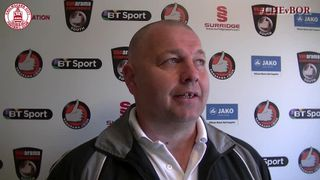 Mark Hawkes Interview - Clarets 3 vs 4 Boreham Wood