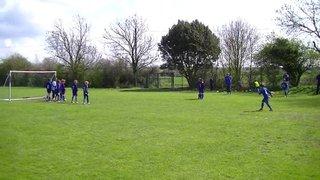 U9 Colts Euan free kick v St Margarets