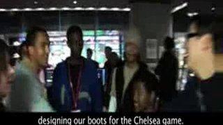 Theo Walcott at Nike Town