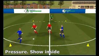 Coaching Soccer Skills - Defending, pressure and cover