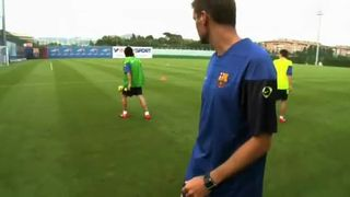 Barcelona Youth FC Drill 2 vs 1
