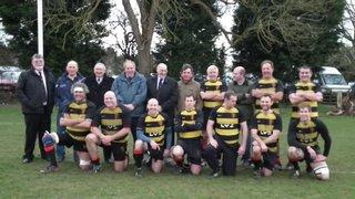 The captains having a team photo