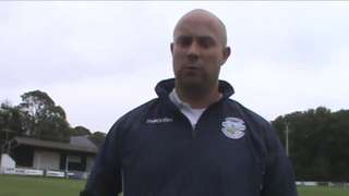 Anthony Deer talks to Peter Guise following the Ladies successful debut in the FA Womens Cup