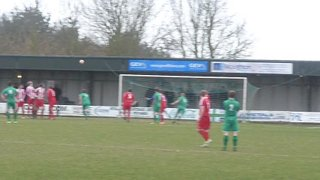 Middleton free kick hits bar v Felixstowe