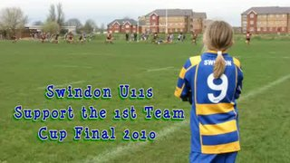 U11s support the 1st Team - Cup Final 2010