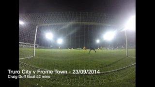 Truro City v From Town - 23rd September 2014 - Craig Duff Goal