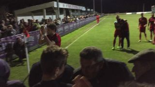 Truro City v Hungerford (29042015) - Truro leaving the pitch after a great win!