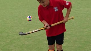 Rhys Goulden showing us his stick skills