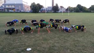 Stevenage Town RFC U18 #22 Press Up Challenge