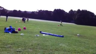 Training Session Goal with HCF U7's Dave Rogerson
