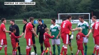 BINFIELD 1-2 LEATHERHEAD - FA Cup with Budweiser 2nd Round Qualifying - 28th Sept 2013