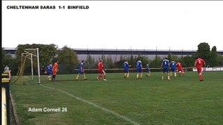 CHELTENHAM SARACENS 2-1 BINFIELD - Uhlsport Hellenic Premier Division - 5th October 2013