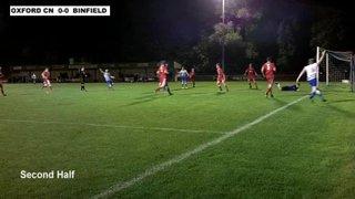 OXFORD CITY NOMADS 0-1 BINFIELD - Uhlsport Hellenic Premier Division - 9th Oct 2013